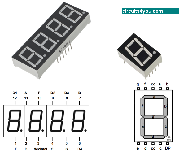7-Segment Display Pin Diagram