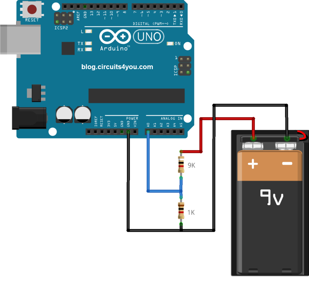 Arduino DC Voltage Measurement Circuit