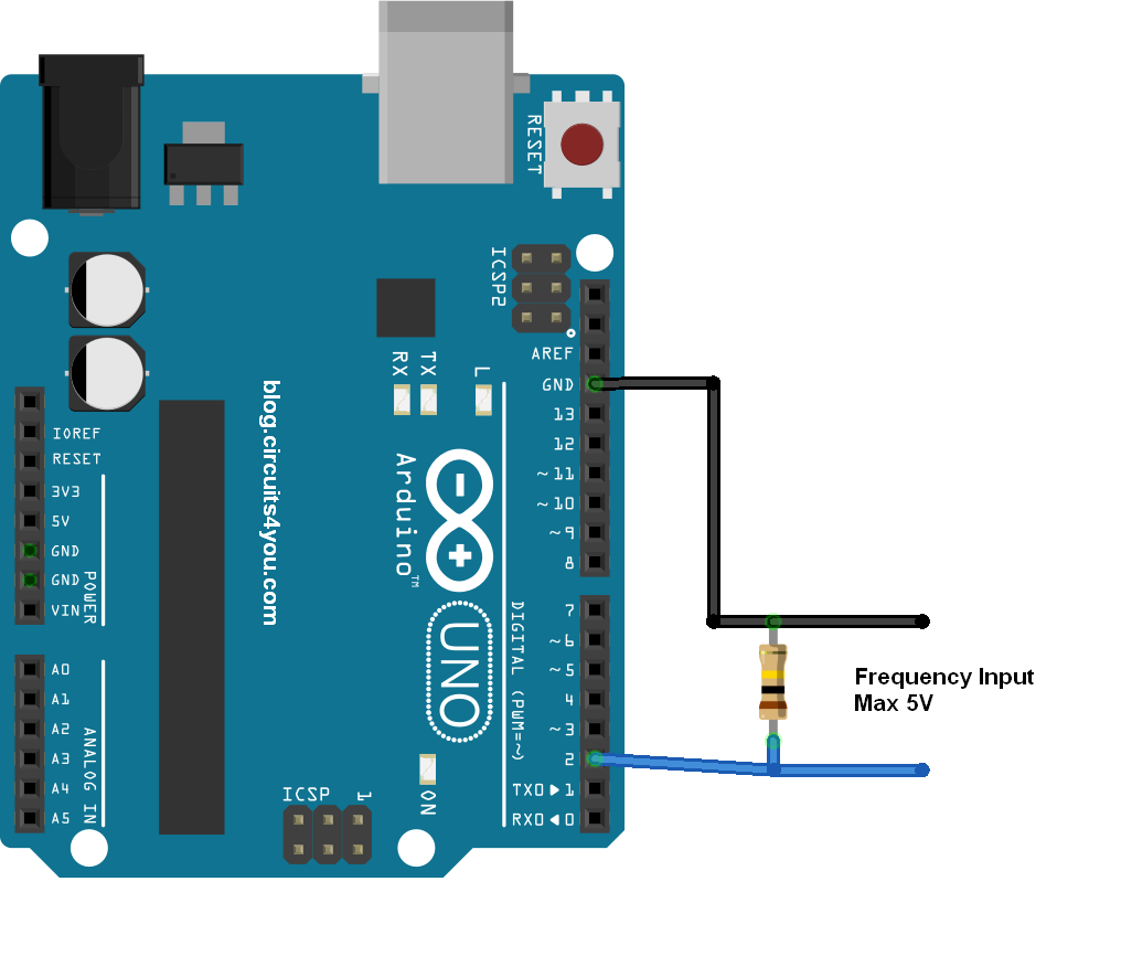 Arduino Frequency Measurement Circuit