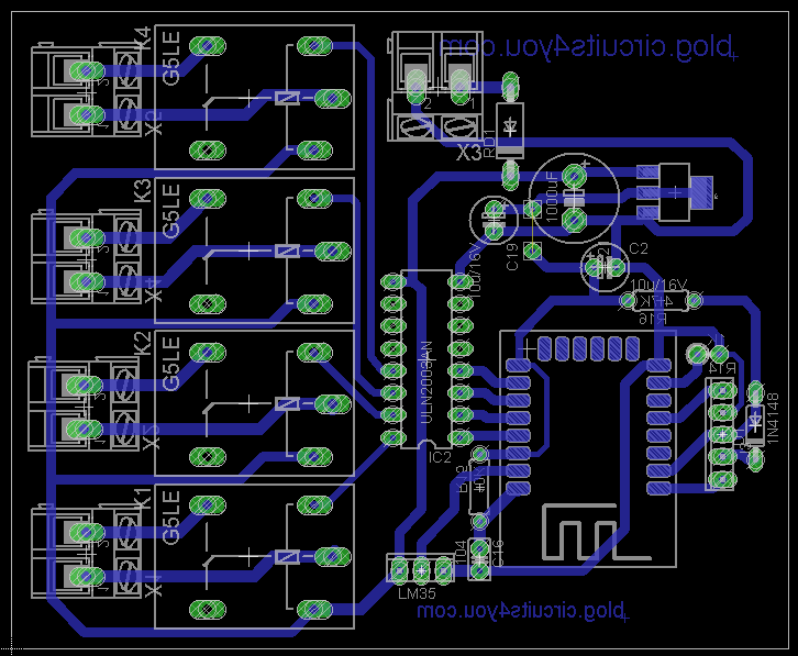PCB Layout IoT Home Automation