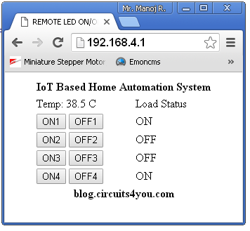 iot home automation results