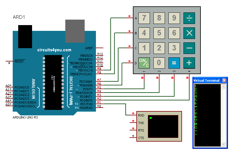 Arduino Connections with keypad