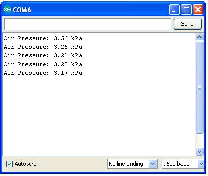 Arduino Pressure Measurement Result