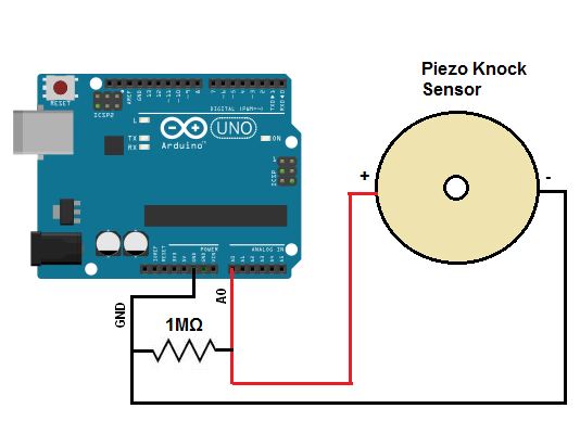 Arduino Piezo Knock Detection Circuit
