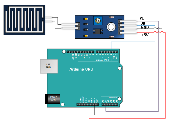 Rain Sensor Module Arduino Connections