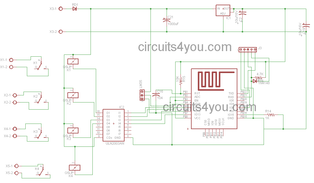 iot based home autoamtion circuit