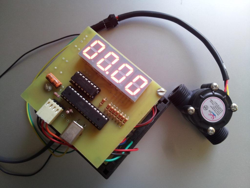 Flow Meter Assembled PCB