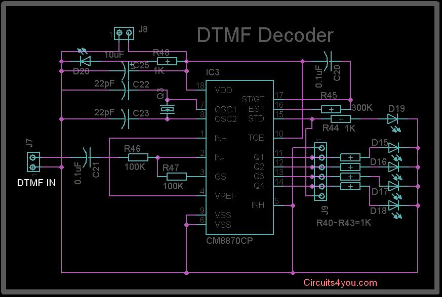 DTMF MT8870 Decode Circuit