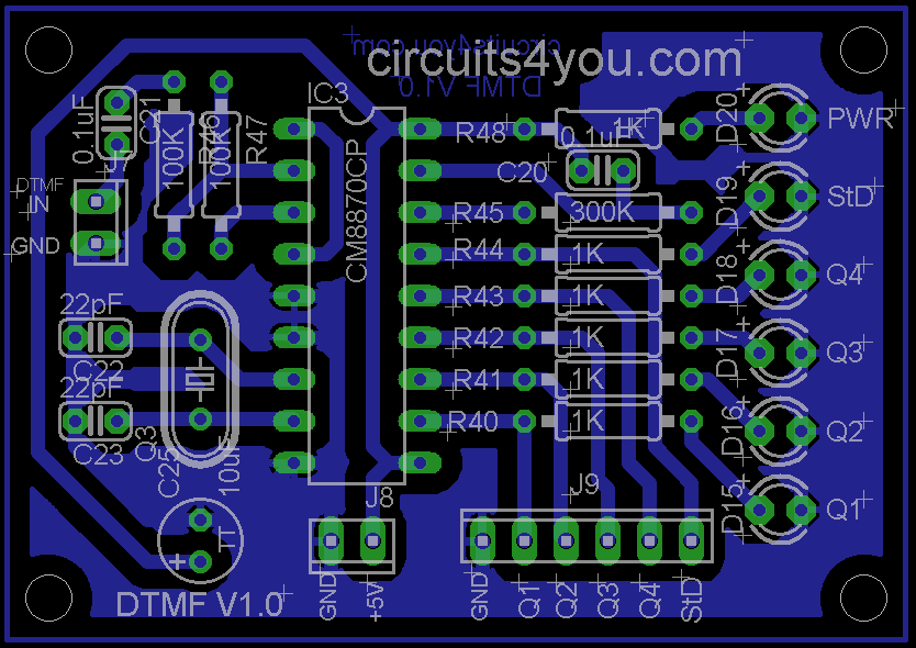 DTMF Decode PCB Layout