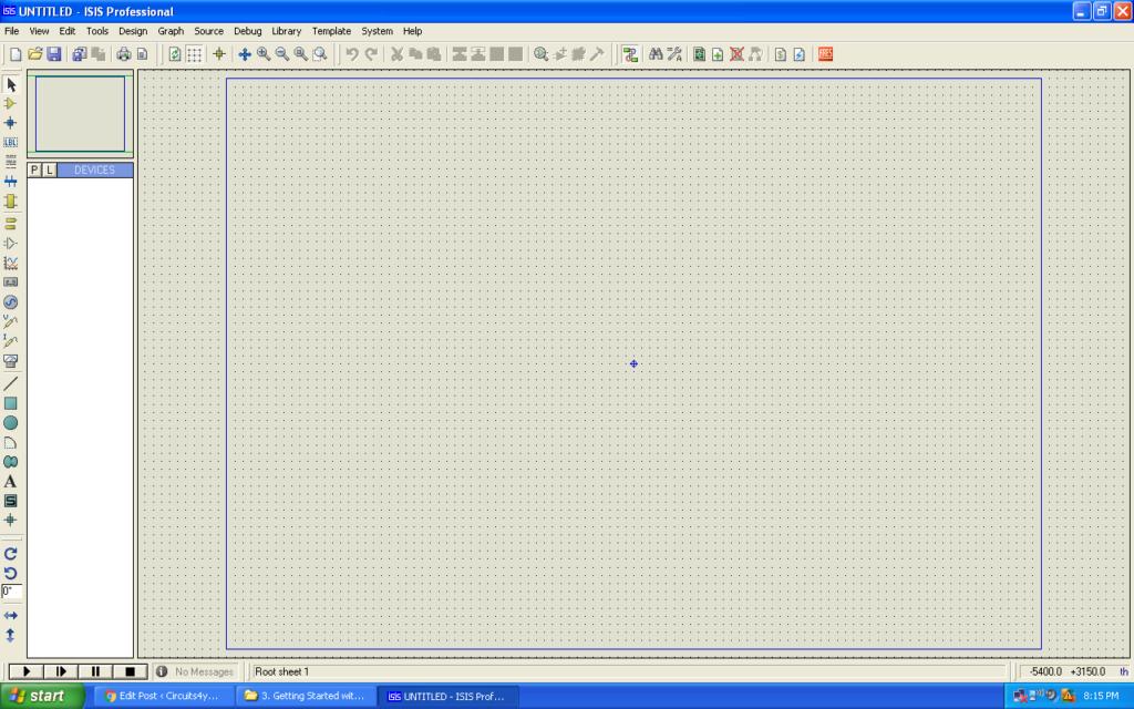 Proteus Start Screen