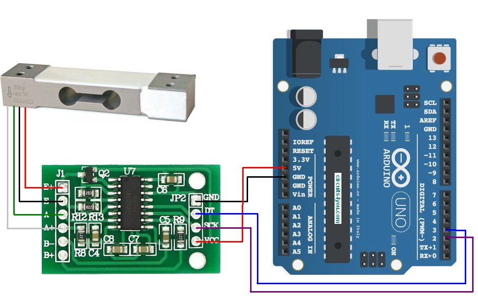 Load_Cell_Interface_Arduino hx711 load cell amplifier interface with arduino circuits4you com interface load cell wiring diagram at mifinder.co