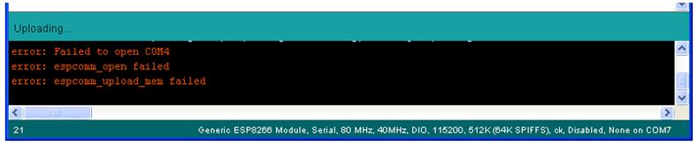 ESP8266 Com error