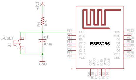 Reset and Programming Circuit of ESP8266 | Circuits4you com