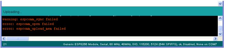 ESP8266 sync error