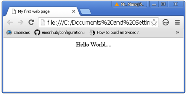 HTML Web Page