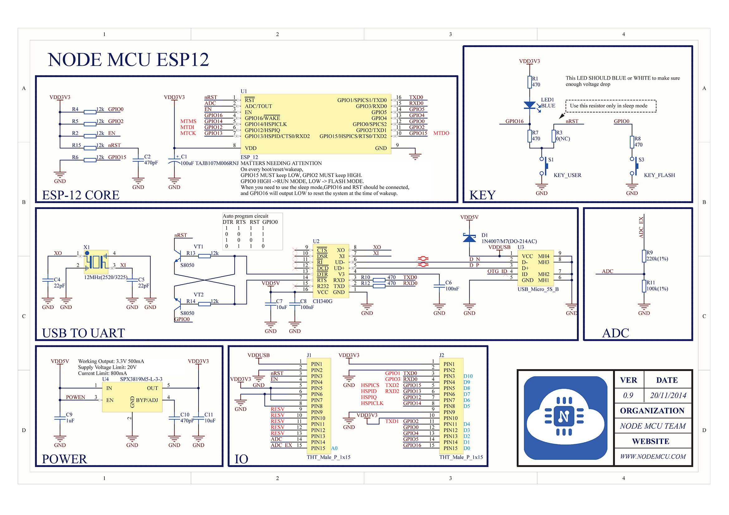 Nodemcu Pinout Usb Pin Wiring Diagram Circuit