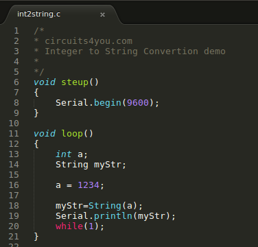 int to string conversion