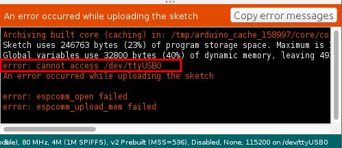 "error: cannot access /dev/ttyUSB0"" | Circuits4you com"