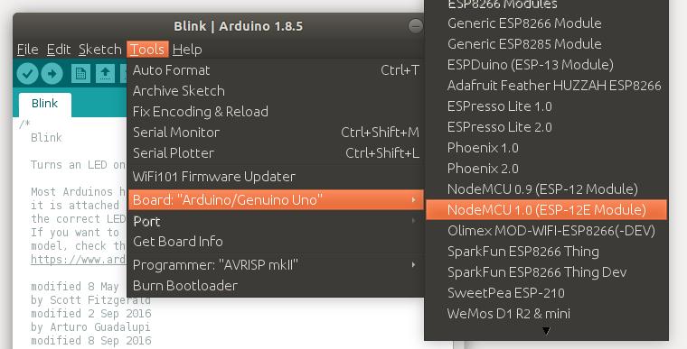 NodeMCU board in Arduino IDE