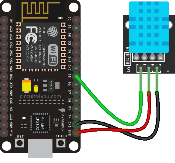 ESP8266 DHT11 Interfacing