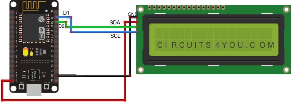 ESP8266 or ESP32 I2C LCD display Interface | Circuits4you com